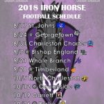 2018 Iron Horse Varsity Football Schedule Released!