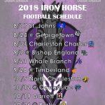 2018 Iron Horse Varsity Football Schedule Released!