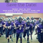 2018 Purple and White Football Spring Game- May 18th, Save The Date!