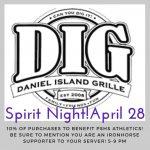 Spirit Night at Daniel Island Grille- Saturday, April 28th!