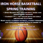 BASKETBALL SPRING TRAINING DATES RELEASED