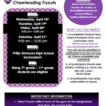 CHEER TRYOUT DATES FOR '18-'19 RELEASED