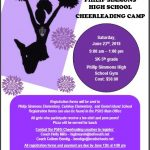 Youth Cheer Camp Set For June 23rd!