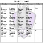 March Football Calendar Released, Master Schedule Updated!