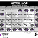 Iron Horse Football Spring Practice Dates Set!