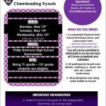Cheerleading Tryouts are coming up!