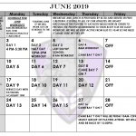 Iron Horse Football June Calendar!