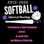 2019-2020 Softball Interest Meeting