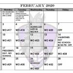 FEBRUARY FOOTBALL CALENDAR!