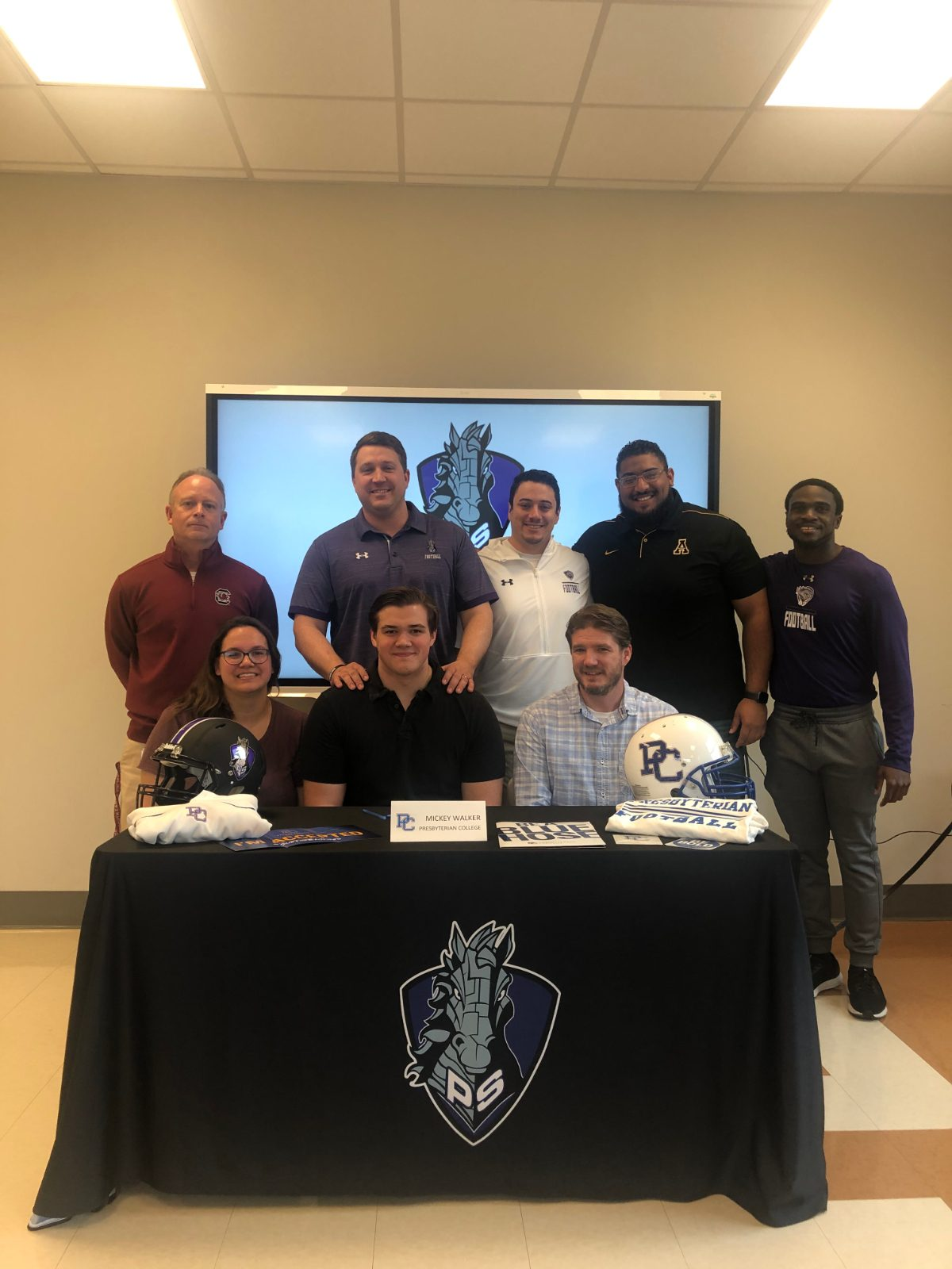 Mickey Walker Signs 1st Football Scholarship for the Iron Horses!