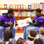 Football Players Participate in Read Across America Week!