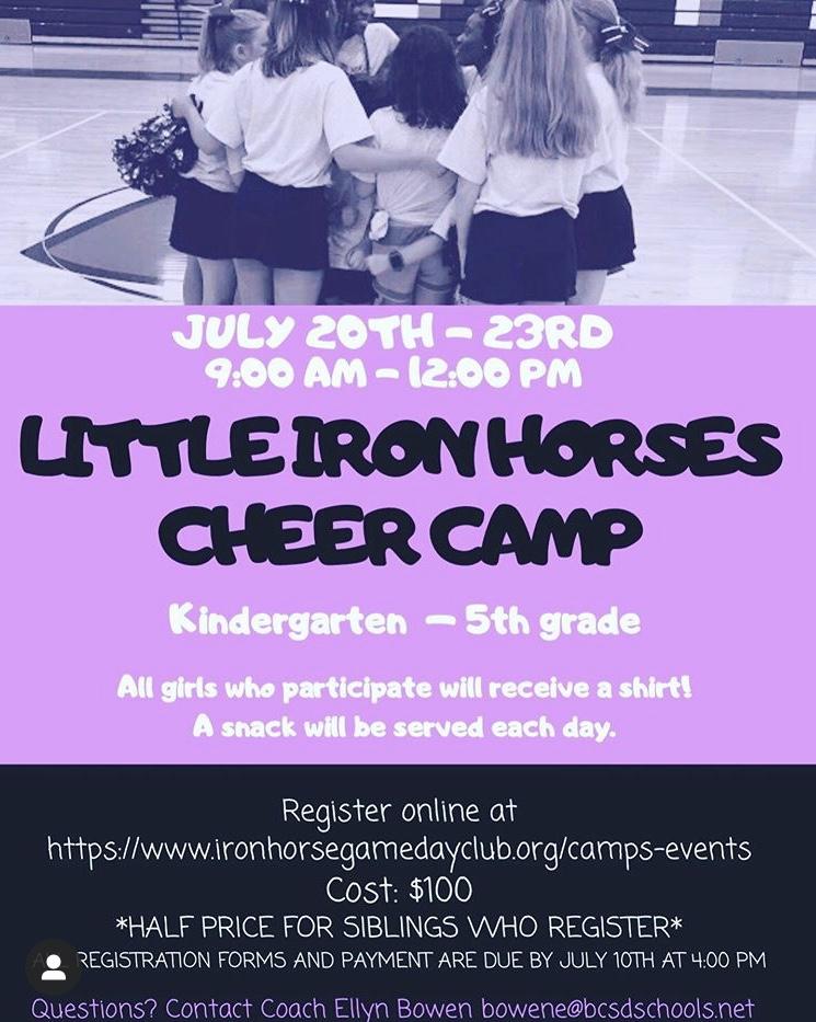 Little Iron Horse Cheer Camp