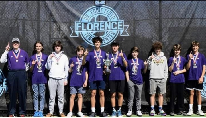 Boys tennis Tournament Champions