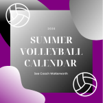 2020 Summer Volleyball Calendar