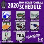UPDATED FOOTBALL SEASON SCHEDULE FOR 2020!