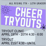Cheerleading Tryouts 2021-2022
