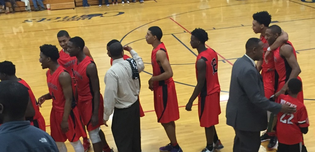Southern Durham High School Boys Varsity Basketball beat Asheboro High School 71-51