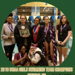 Lady Warriors Win SCIAA Swimming Championship