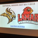 Davion Buster signs NLI with Lamar University