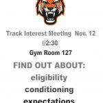 Track Interest Meeting