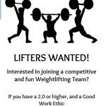 Boys Weightlifting interest meeting!