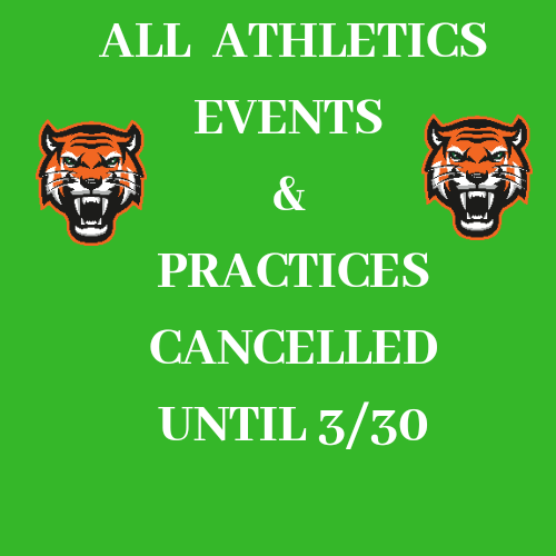All  Athletic Events Cancelled