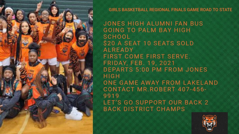 $20 Fan bus seats are being sold! Go root on your Lady Tigers in the Regional Finals tomorrow!