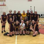 Girls 7th Grade Volleyball wins Gibson County Tourney