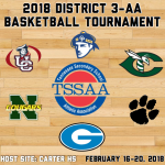 Carter set to Host District 3-AA Basketball Tournaments