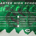 2019 Carter Football Schedule Poster