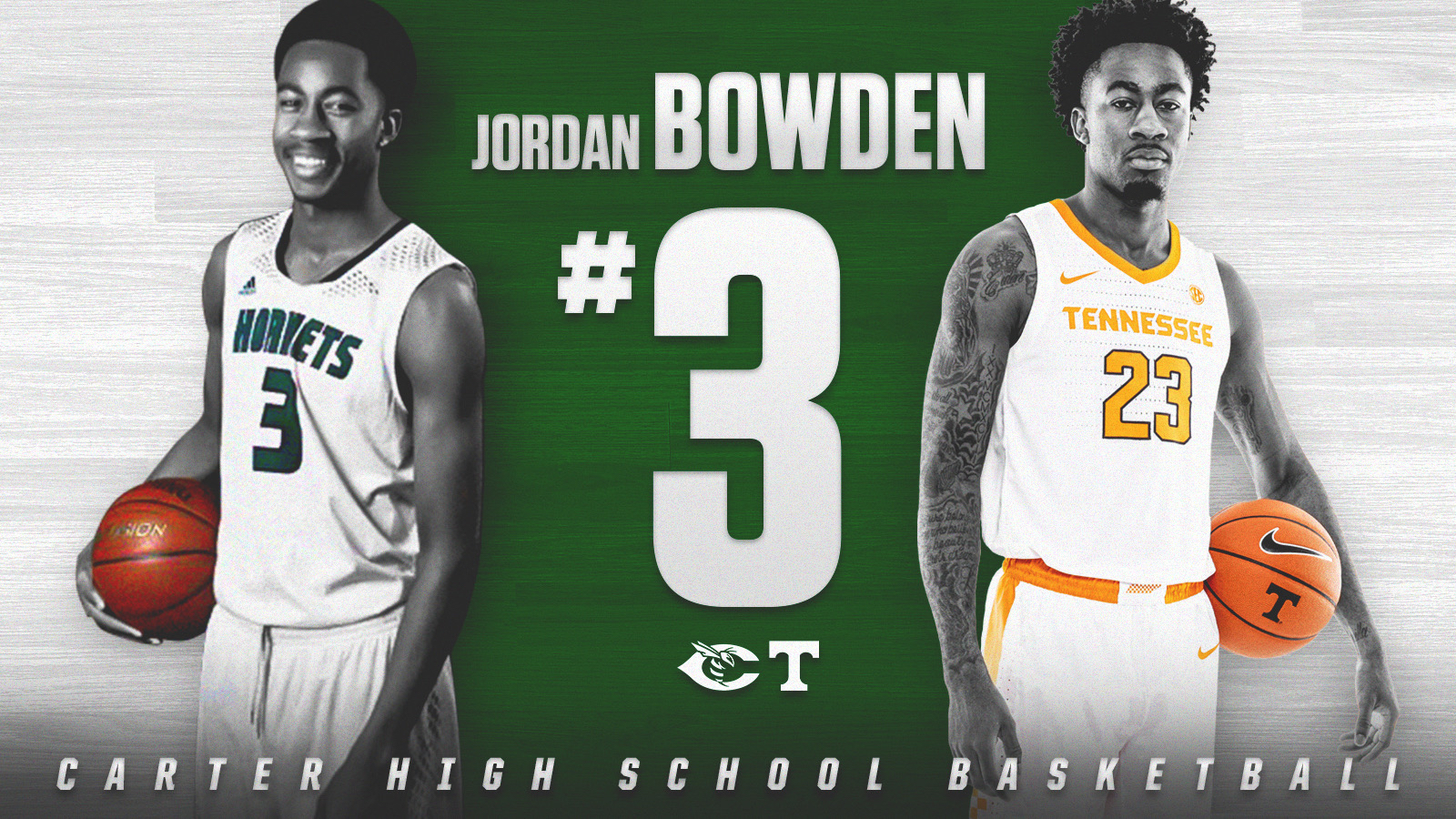 BREAKING NEWS: Carter High School to retire Jordan Bowden's Jersey on December 19, 2019 @jordybow3 @vol_hoops @5starpreps @prepxtra