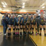 Ovid-Elsie High School Girls Junior Varsity Volleyball beat Morrice High School 13-3