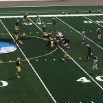 Football-First practice in the new stadium