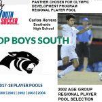 Soccer's  Herrera Selected for Olympic Developmental Program Player Pool