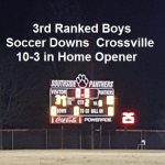 3rd Ranked Boys Soccer Defeats Crossville 10-3 in Home Opener