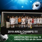 Boys Soccer Wins Area Championship on Tuesday, Sweep Area on Wednesday Night !!!