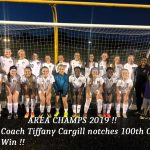 Girls Soccer Wins Area !! Coach Cargill Notches 100th Career Win !!