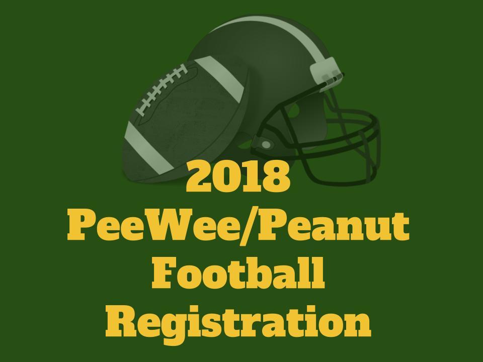 2018 PeeWee/Peanut Football Registration