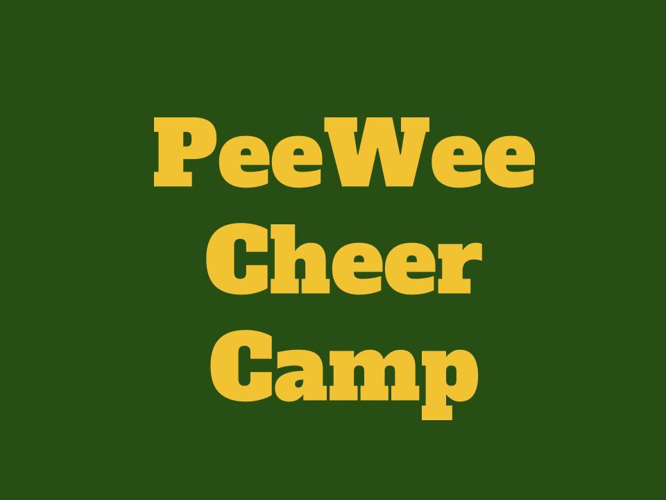 PeeWee Cheer Camp Next Week