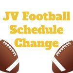 JV Football Schedule Update