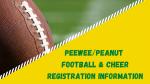 2021 PeeWee/Peanut Registration Information