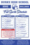 Burke Fall Sports Schedule and Events Tickets for 2020-2021