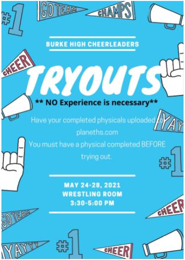 Burke High School Cheerleading Tryouts