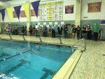 Boys and Girls Swimming Split on Senior Night