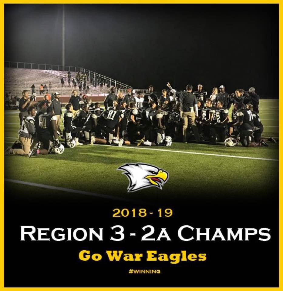 War Eagles Win First Region Title in Football