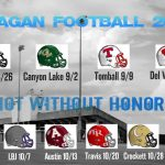 2016 Football Schedule Released