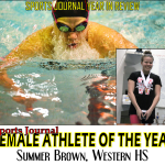 Summer Brown Sports Journal Female Athlete of the Year