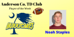 Noah Staples- Anderson County Player of the Week