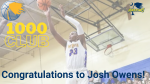 Congratulations Josh Owens- 1000 Club