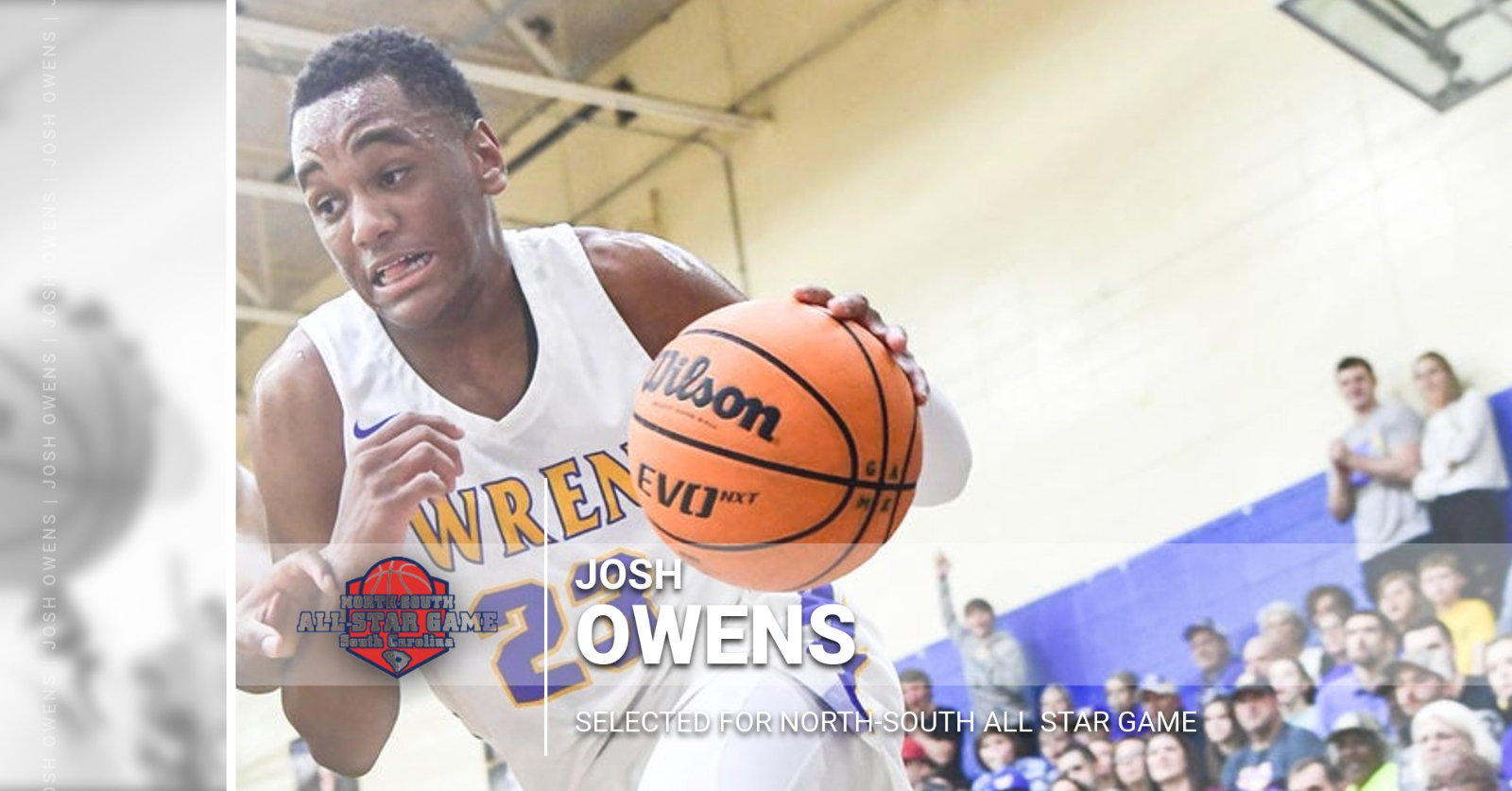 Josh Owens Selected for North-South All Star Game